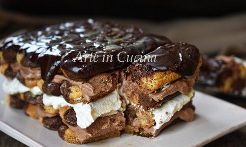 Tiramisù al doppio cioccolato dolce facile