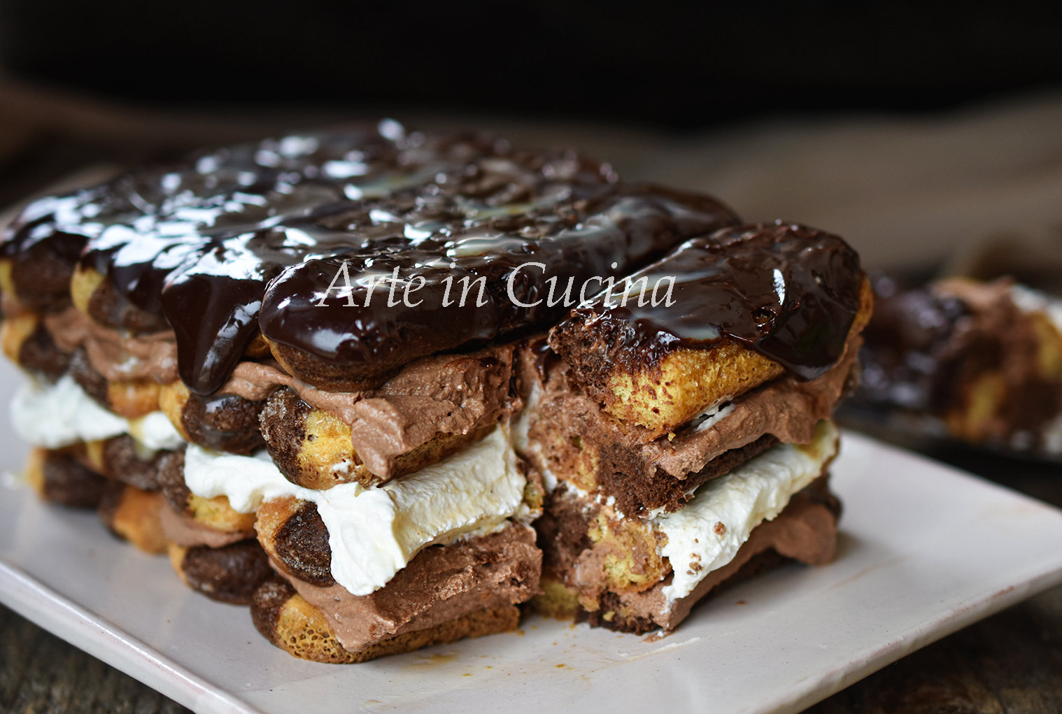 Tiramisù al doppio cioccolato ricetta dolce facile vickyart arte in cucina