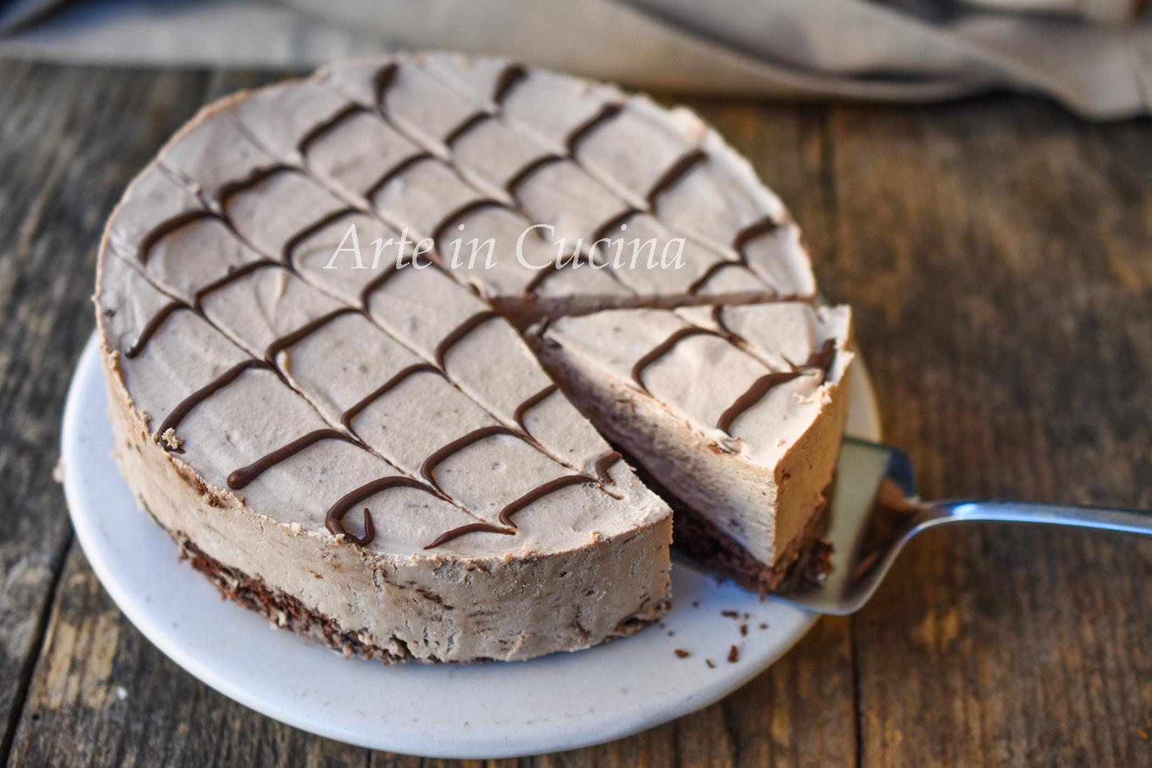 Torta despacito brasiliana al cioccolato semifreddo veloce vickyart arte in cucina