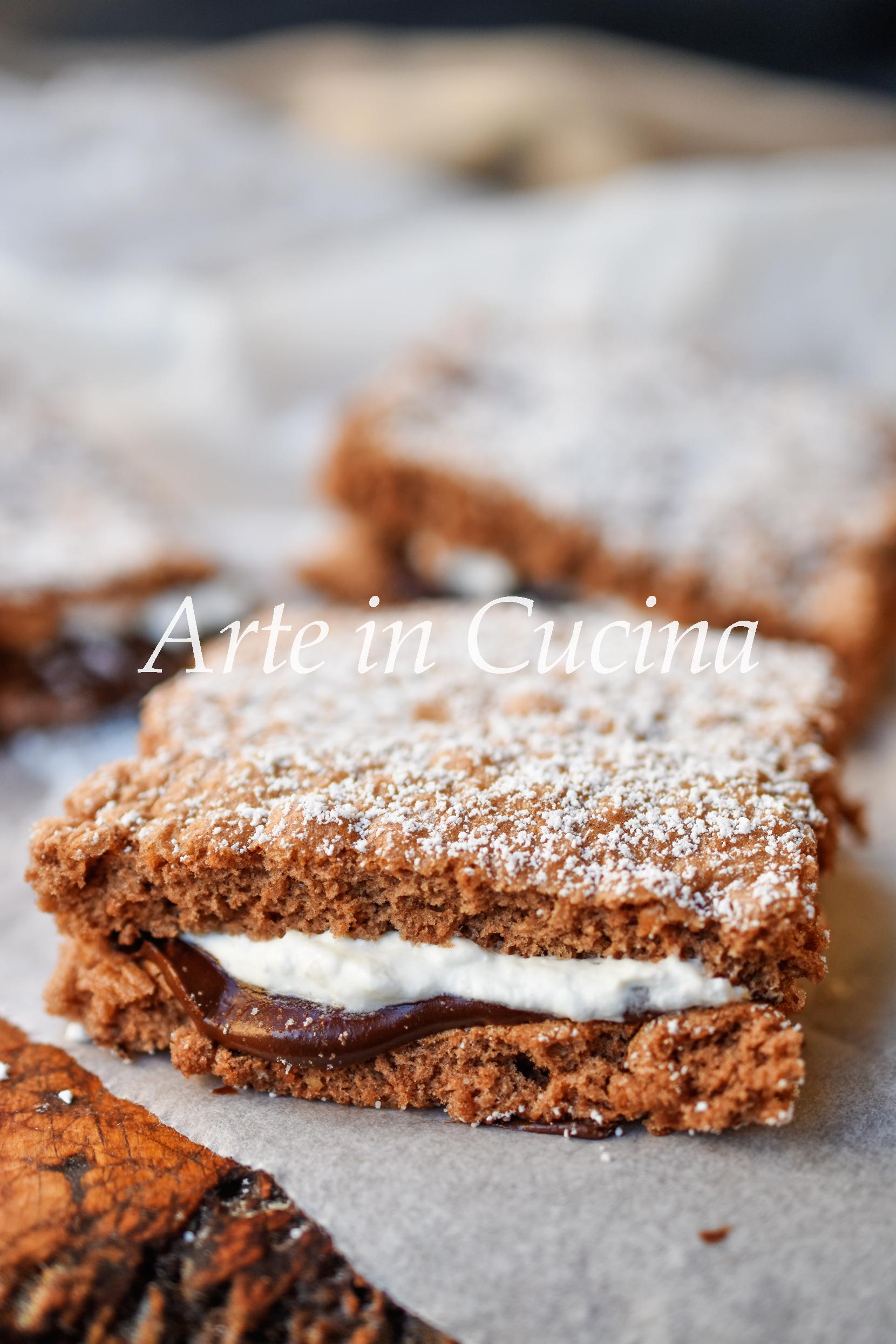 Trancetti panna e nutella dolcetti veloci e facili vickyart arte in cucina