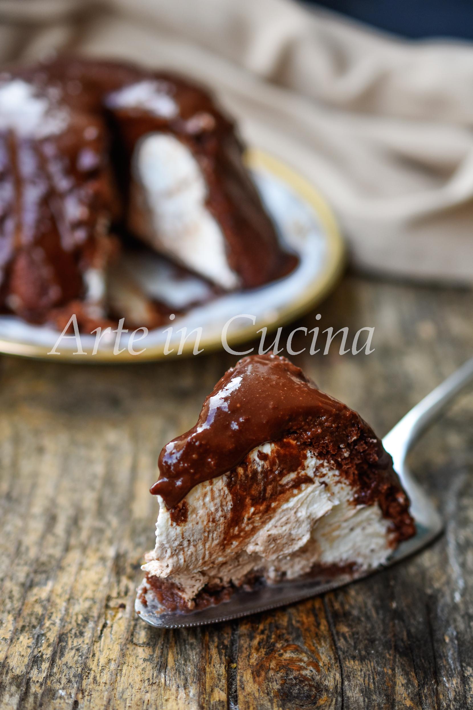 Zuccotto paradiso al cioccolato cremoso dolce freddo veloce e facile vickyart arte in cucina