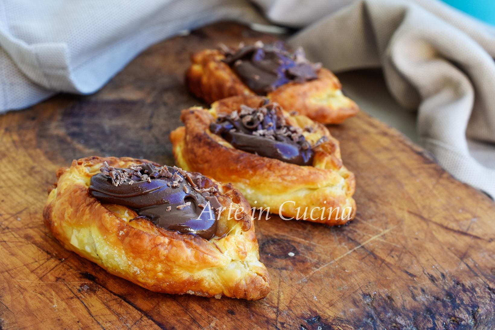 Barchette di sfoglia alla nutella veloci e facilissime vickyart arte in cucina