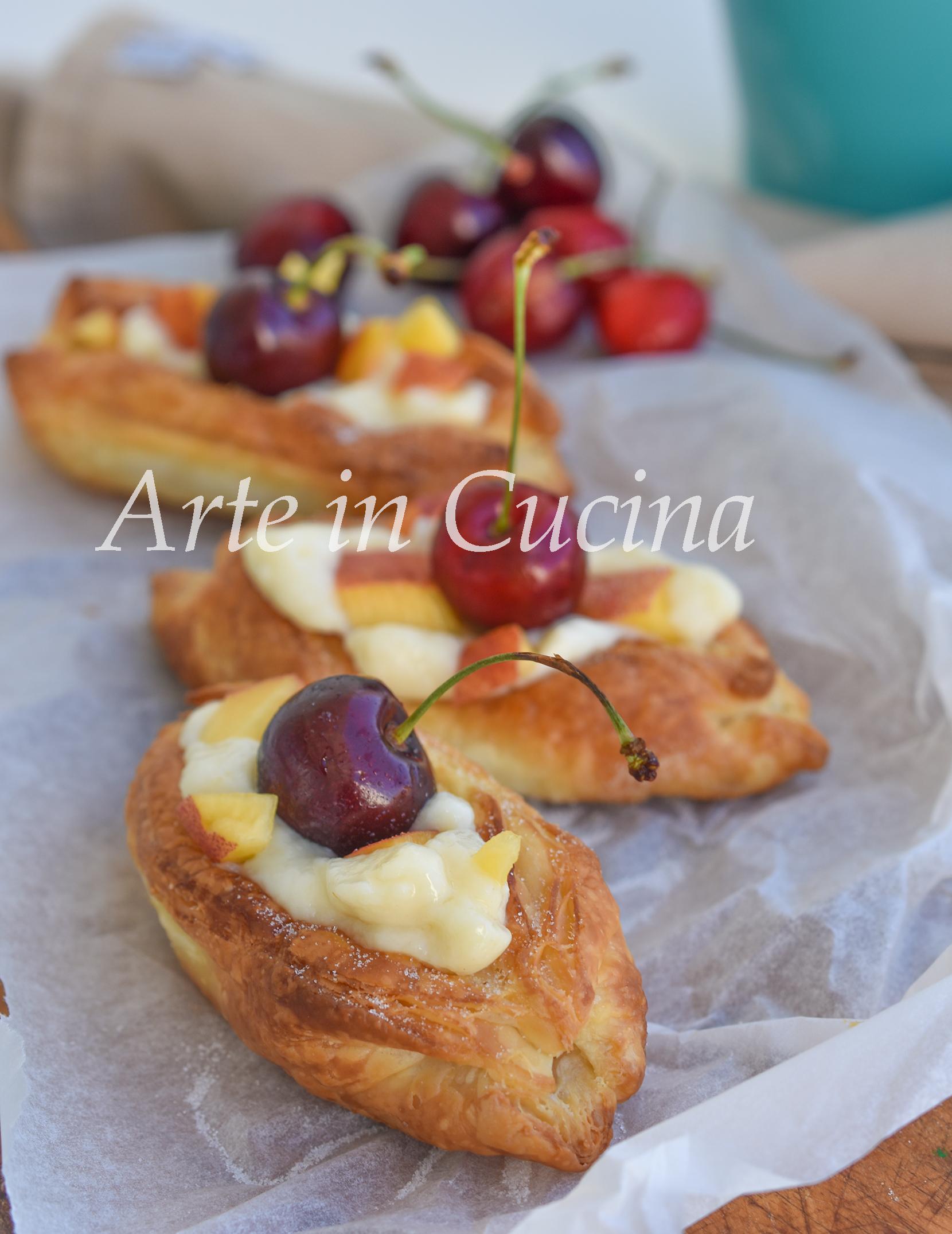 Barchette di sfoglia alla crema e frutta vickyart arte in cucina
