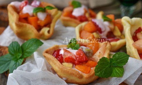 Cestini yogurt e frutta dolce veloce