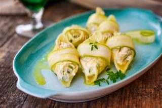 Conchiglioni ripieni di gamberetti e zucchine ricetta facile primo piatto vickyart arte in cucina