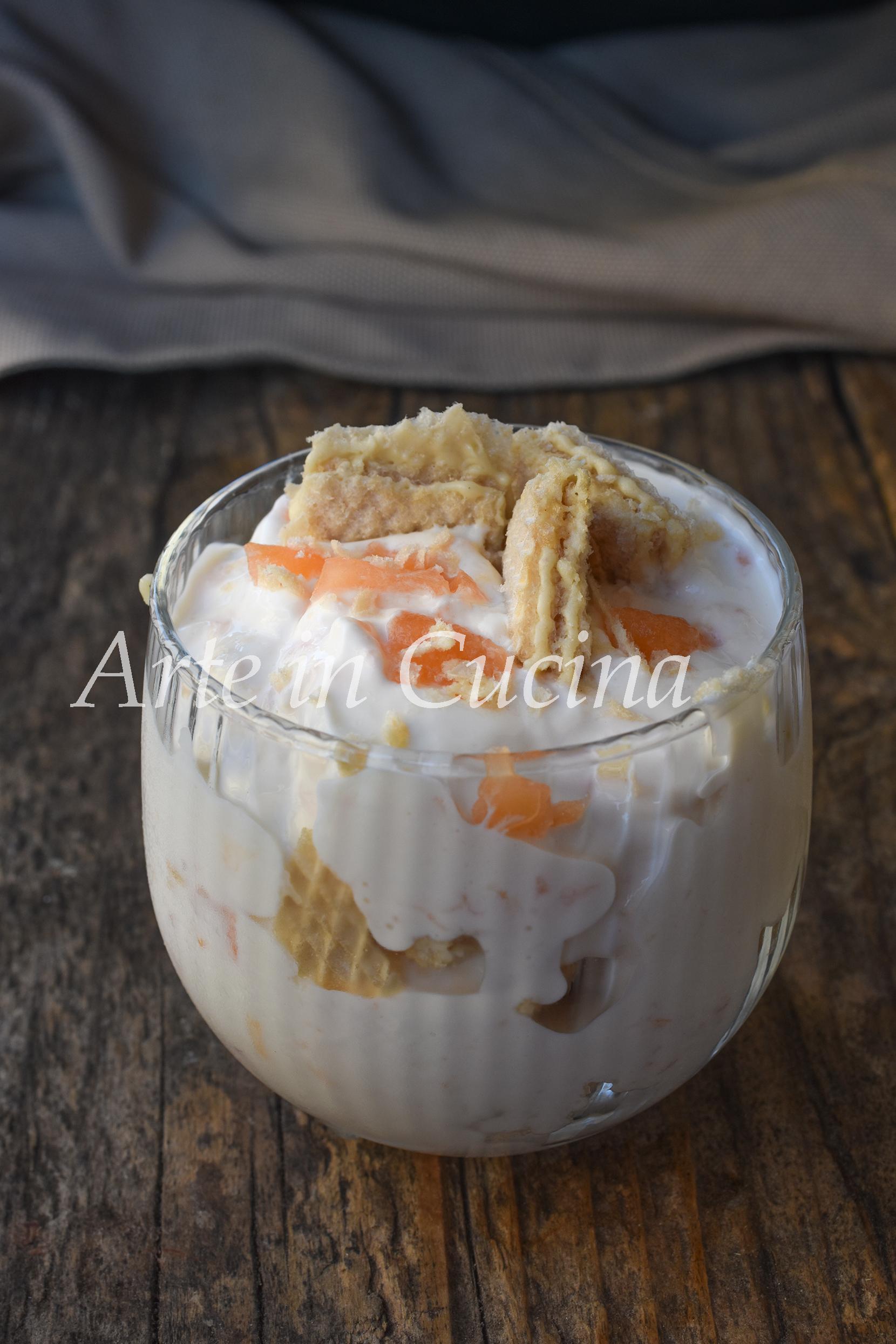Coppa al melone e cioccolato bianco dolce al cucchiaio facile e veloce vickyart arte in cucina