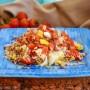 Fantasia di riso in insalata con salmone rosso ricetta primo leggero vickyart arte in cucina