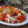 insalata pollo e ceci ricetta leggera facile veloce estiva vickyart arte in cucina