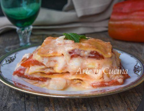 Lasagne con gamberi e peperoni