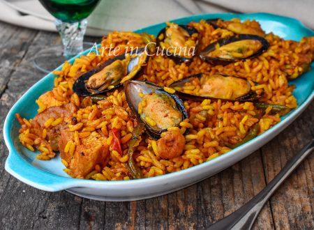 Paella andalusa mista ricetta originale spagnola
