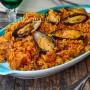 Paella andalusa mista ricetta originale spagnola vickyart arte in cucina