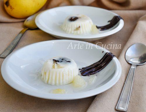 Panna cotta pere e cioccolato facile