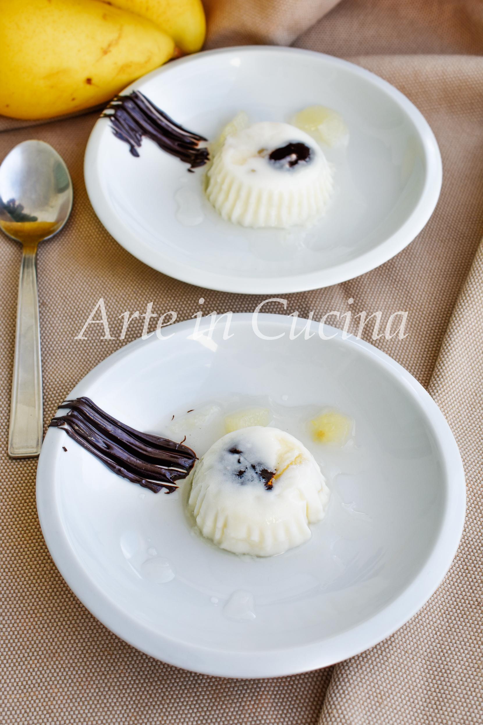 Panna cotta pere e cioccolato facile e goloso dolce al cucchiaio vickyart arte in cucina