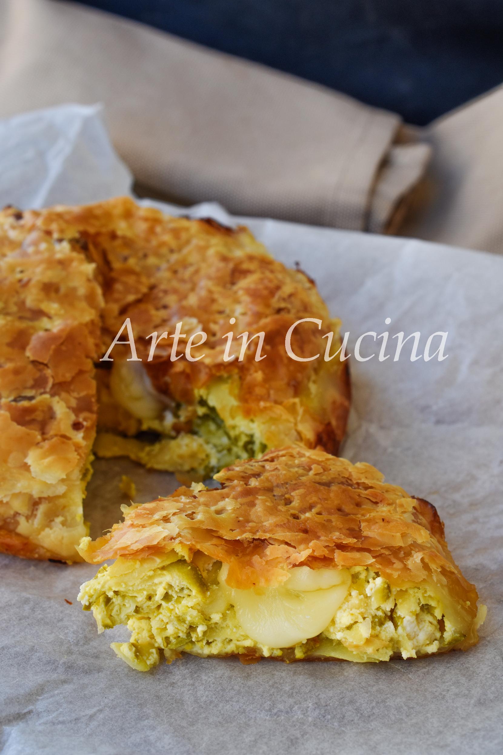 Pasta sfoglia con zucchine e ricotta torta salata veloce vickyart arte in cucina