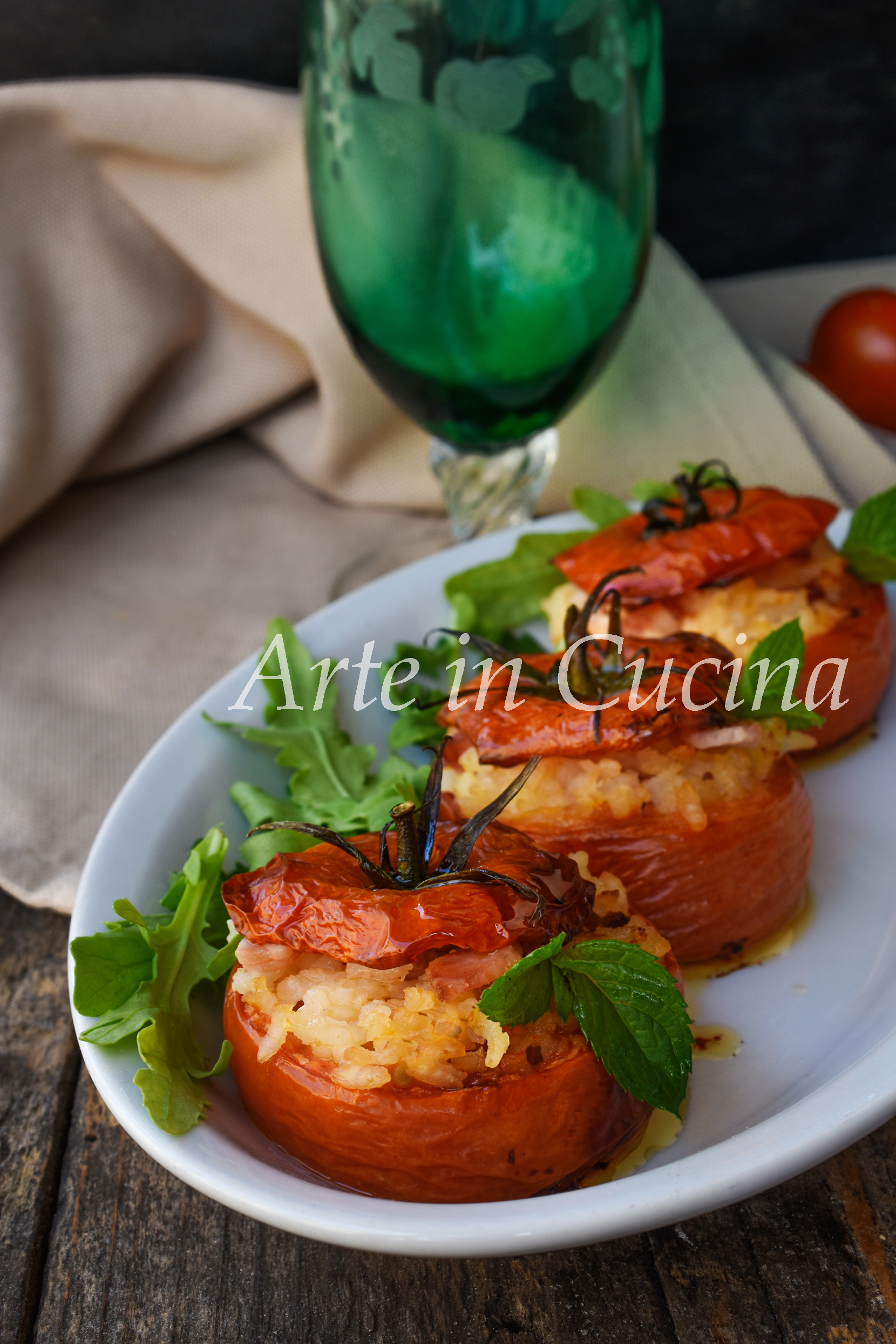 Pomodori ripieni di riso e prosciutto ricetta tipica semplice vickyart arte in cucina