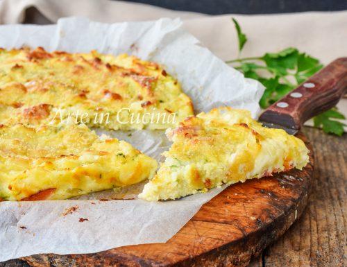 Schiacciata patate zucchine e speck