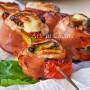 Spiedini di pollo e melanzane filanti sfiziosi ricetta veloce vickyart arte in cucina