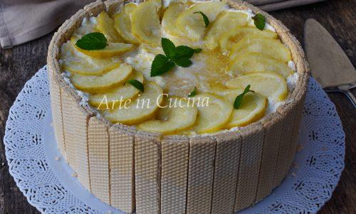 Torta di wafer al limone senza cottura