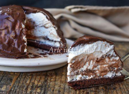 Zuccotto pinguino nutella e cioccolato