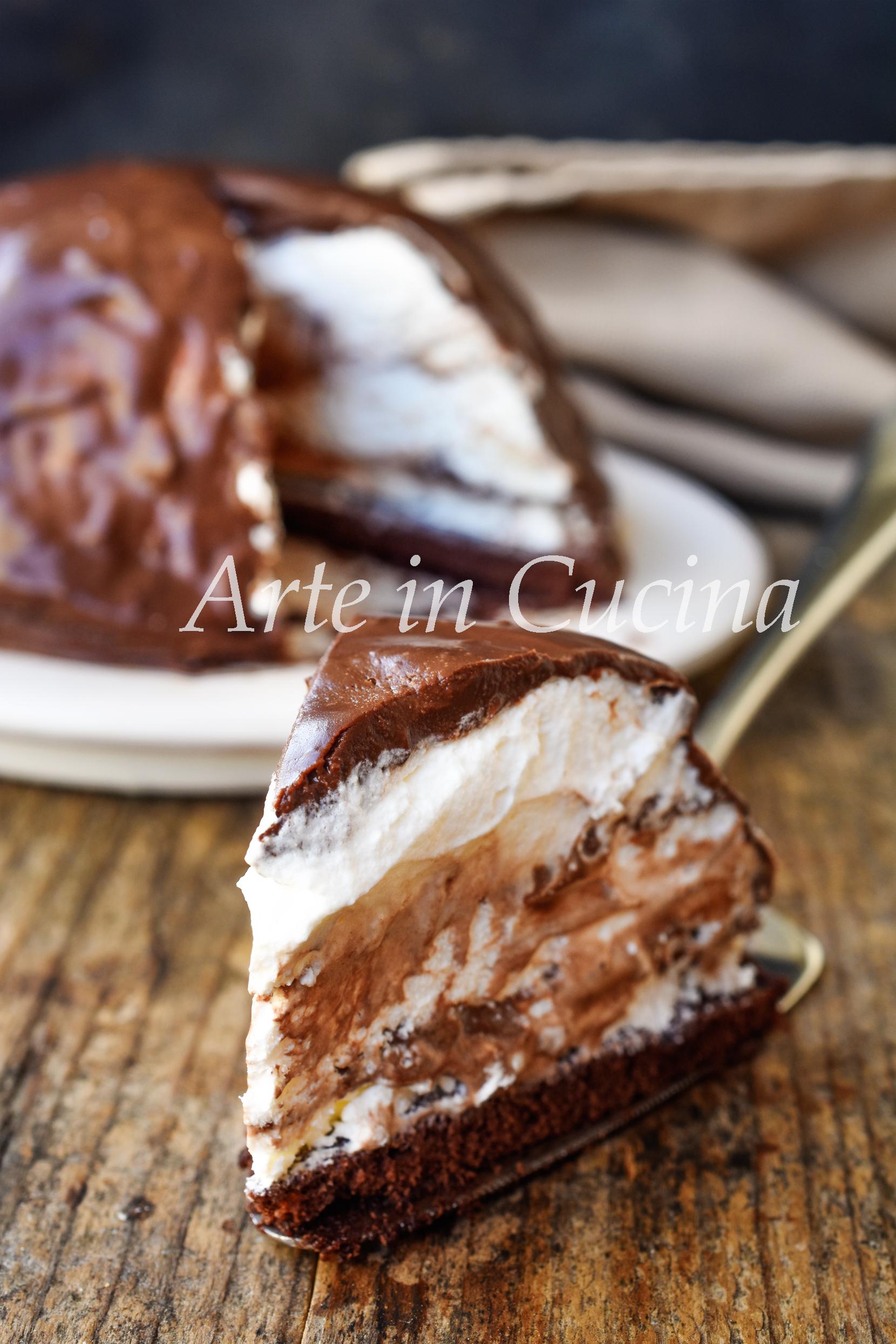 Zuccotto pinguino nutella e cioccolato semifreddo veloce vickyart arte in cucina