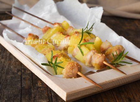 Arrosticini di pollo e patate ricetta sfiziosa