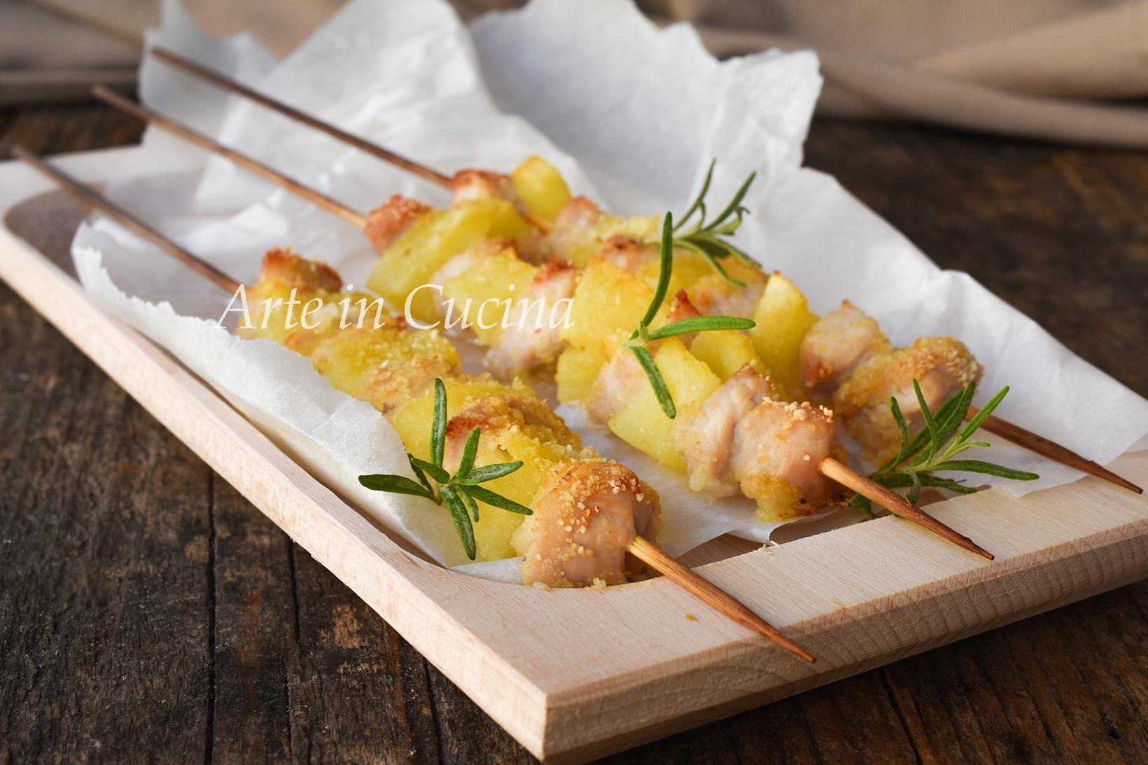 Arrosticini di pollo e patate ricetta sfiziosa arrosticini abruzzesi