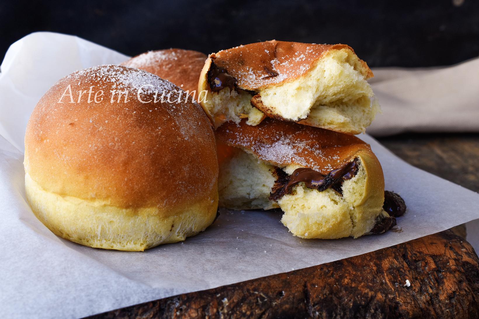Brioche alla robiola sofficissime con nutella vickyart arte in cucina