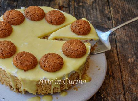 Cheesecake amaretti e cioccolato bianco