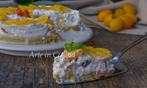 Cheesecake tonno e pomodoro salata veloce