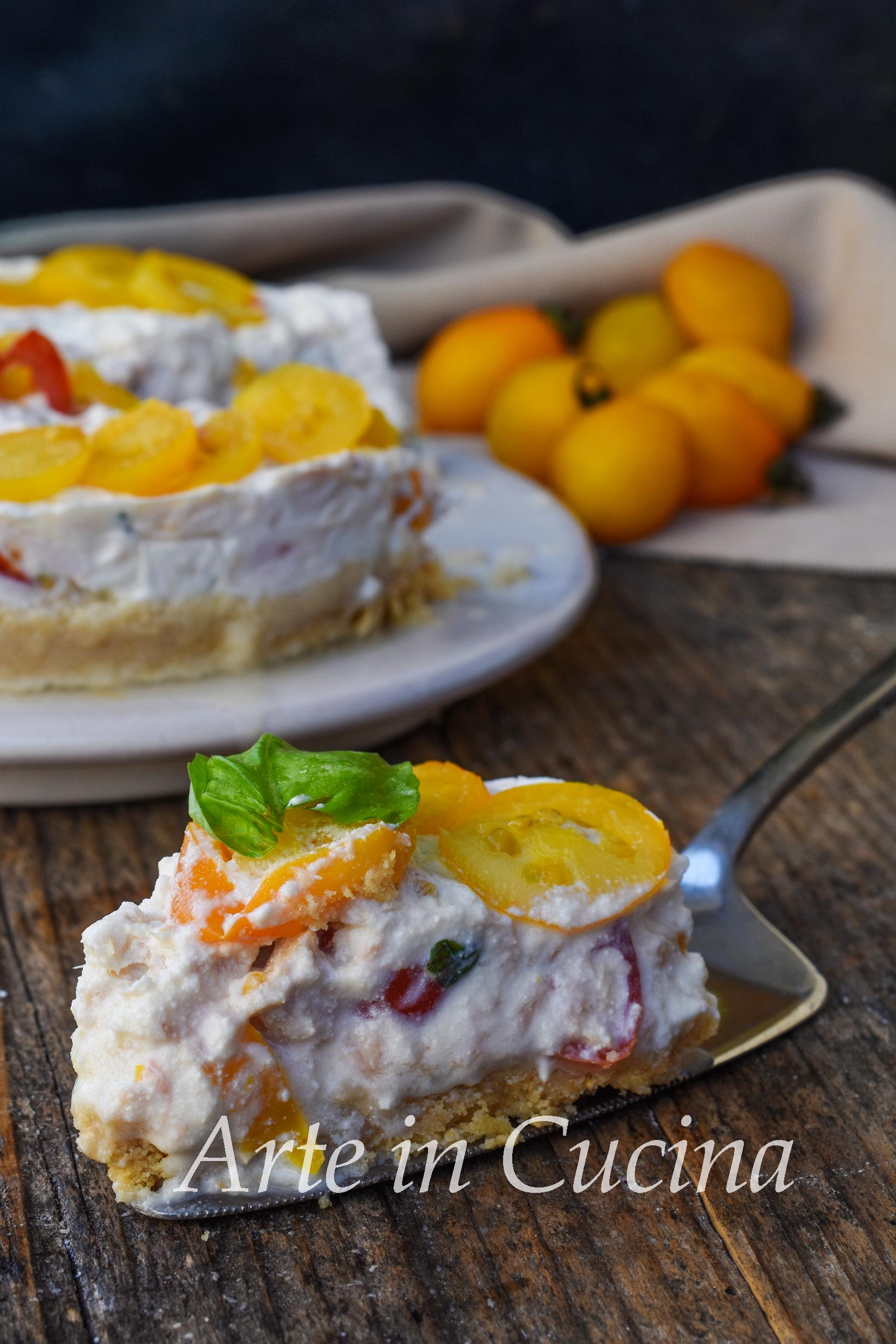 Cheesecake tonno e pomodoro salata veloce senza cottura