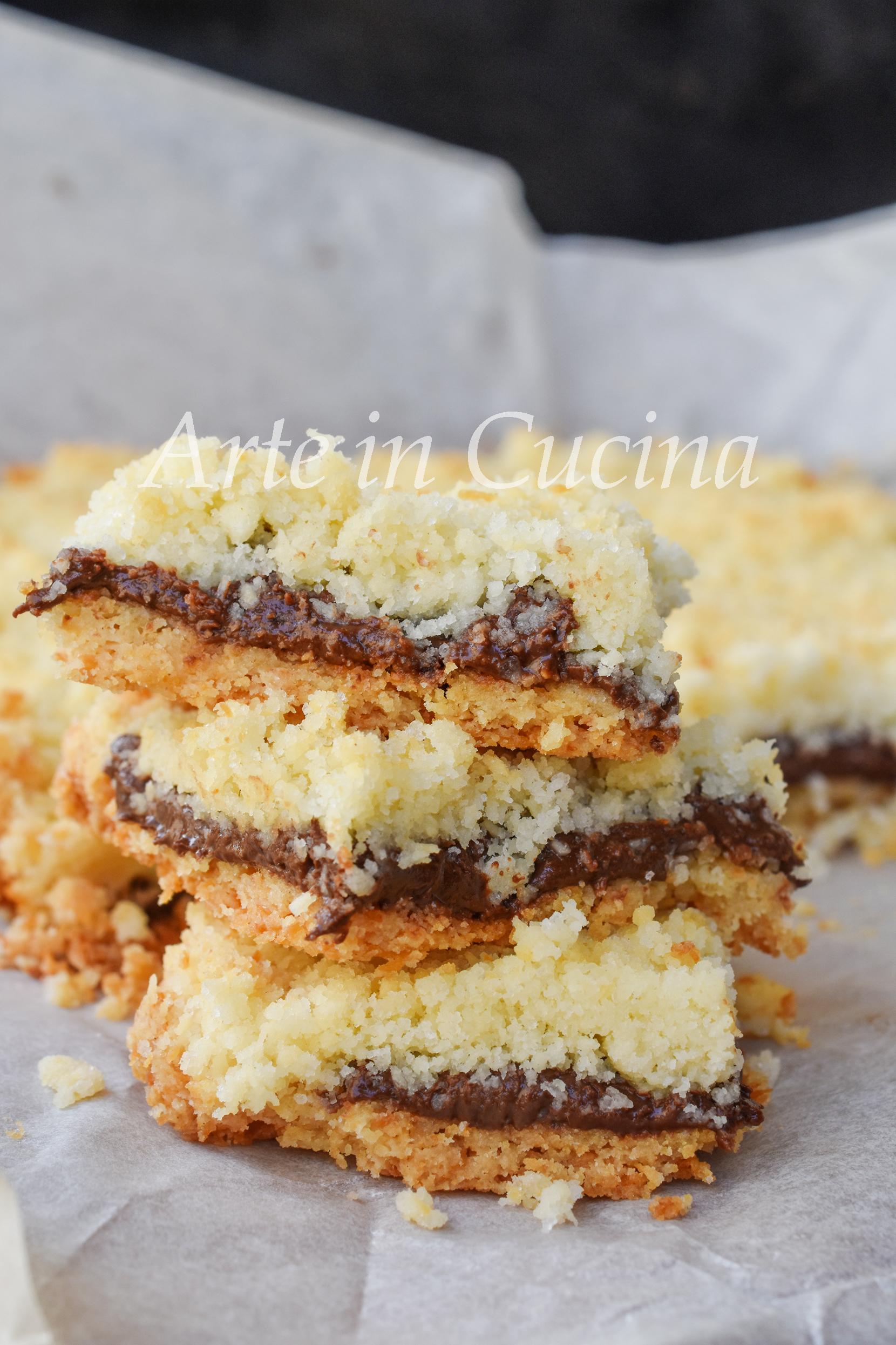 Crumble cocco e nutella ricetta dolce veloce