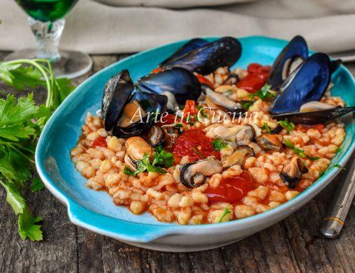 Fregola con le cozze primo piatto di mare