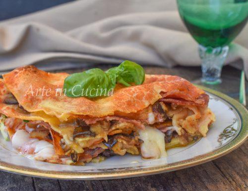 Lasagne con melanzane a funghetto ricetta facile