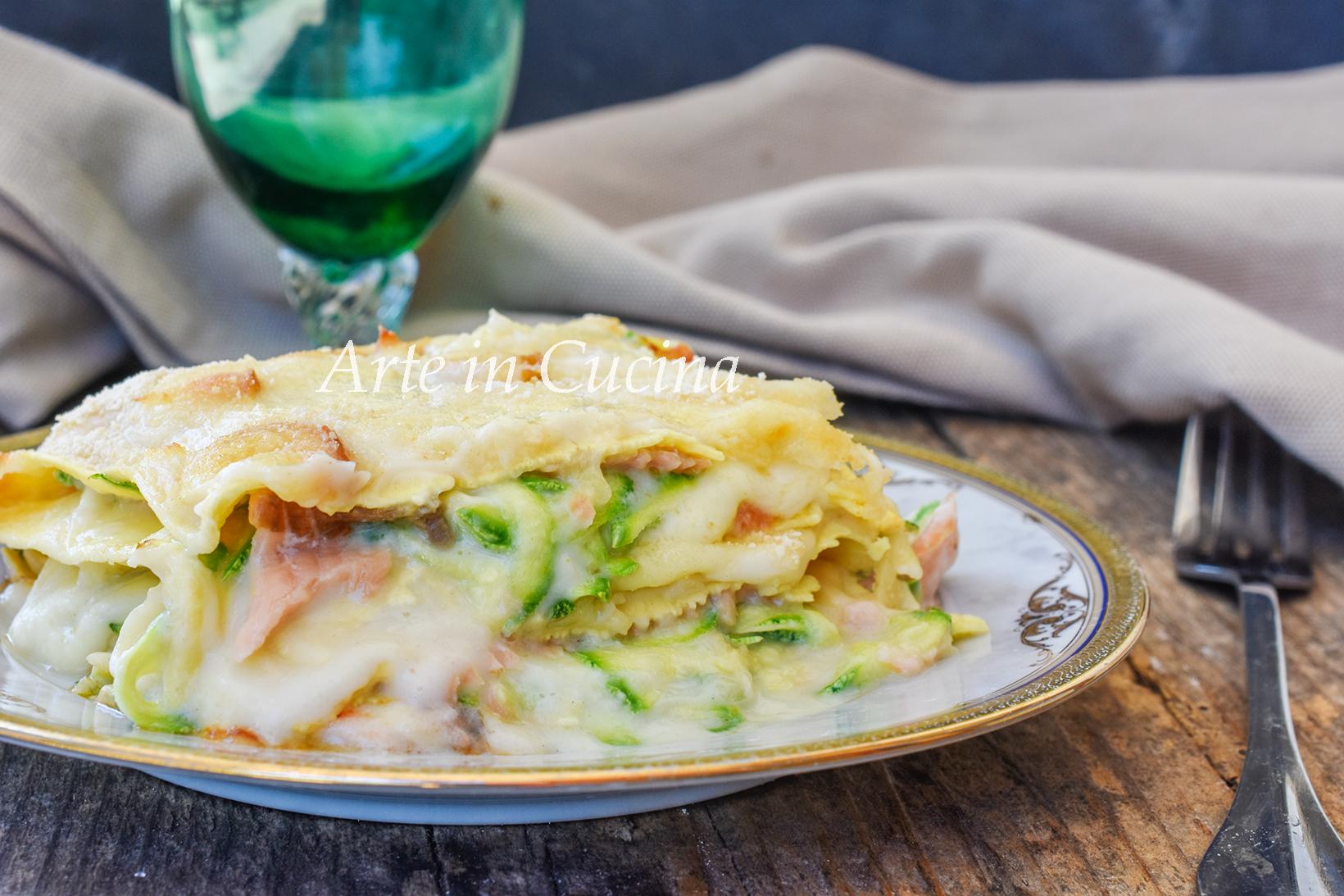 Lasagne zucchine e salmone ricetta veloce