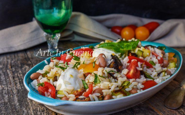 Riso sfizioso in insalata ricetta fredda