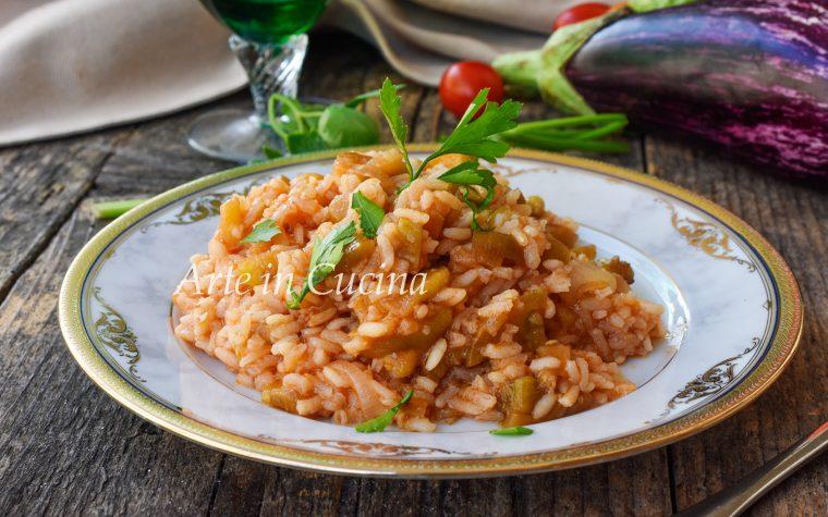 Risotto con melanzane ricetta facile e veloce