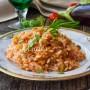 Risotto con melanzane ricetta facile e veloce primo piatto leggero