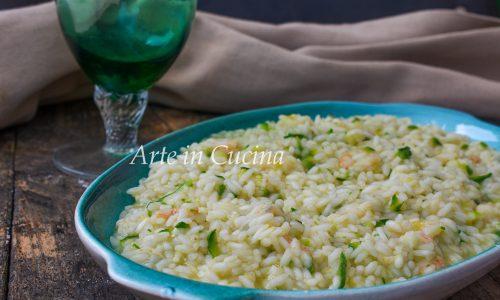 Risotto con zucchine e gamberetti