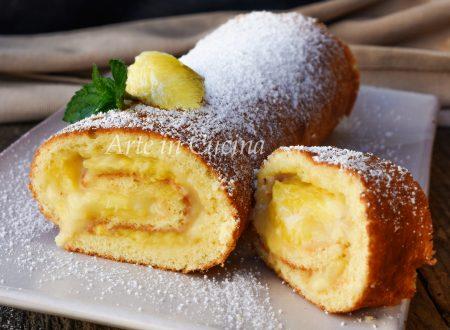 Rotolo ananas e crema pasticcera