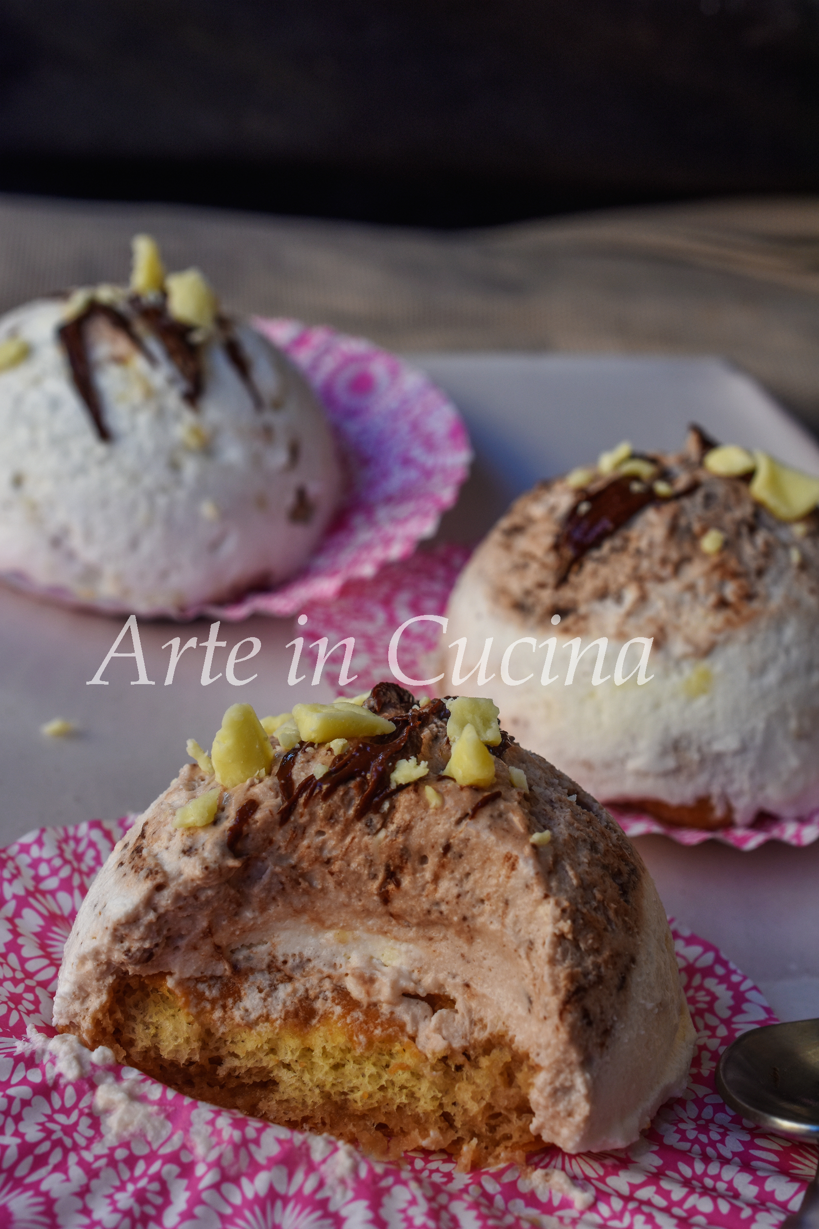 Semifreddo cioccolato bianco e nutella monoporzione