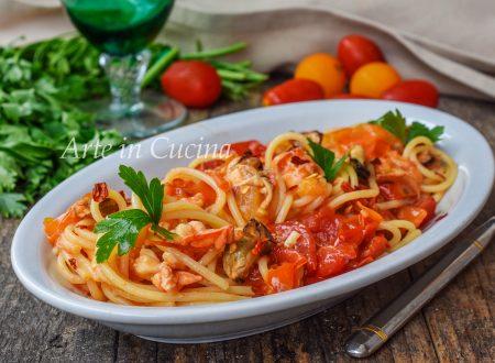Spaghetti astice e aragosta primo di pesce