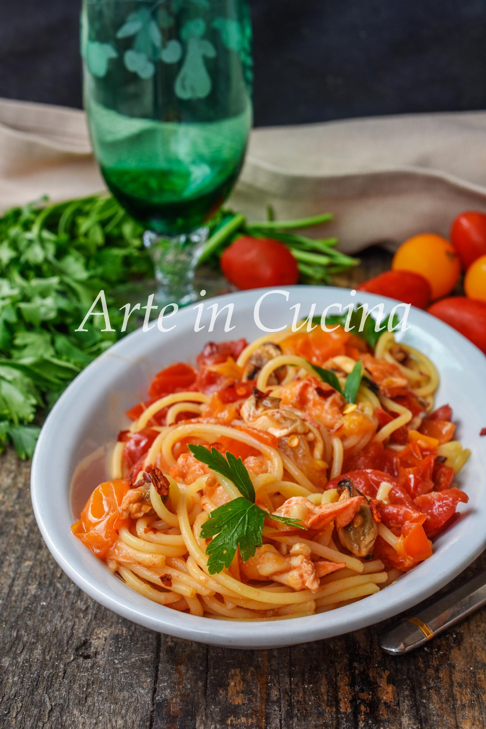 Spaghetti astice e aragosta primo piatto di pesce