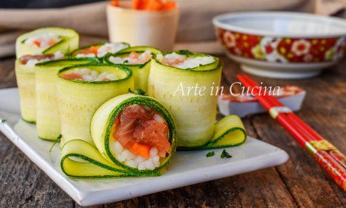 Sushi all'italiana con salmone ricetta veloce