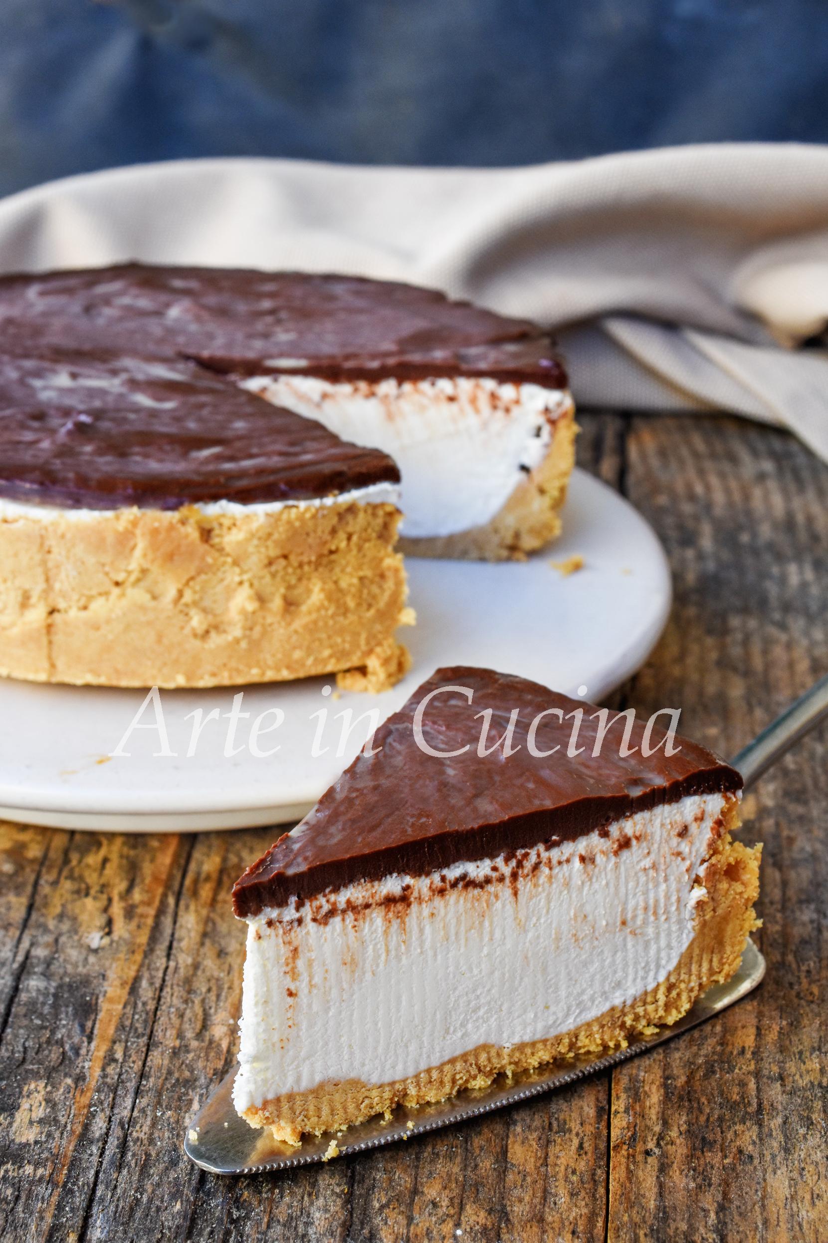 TORTA SUSANNA FREDDA ricetta dolce veloce e facile solo su ARTE IN CUCINA