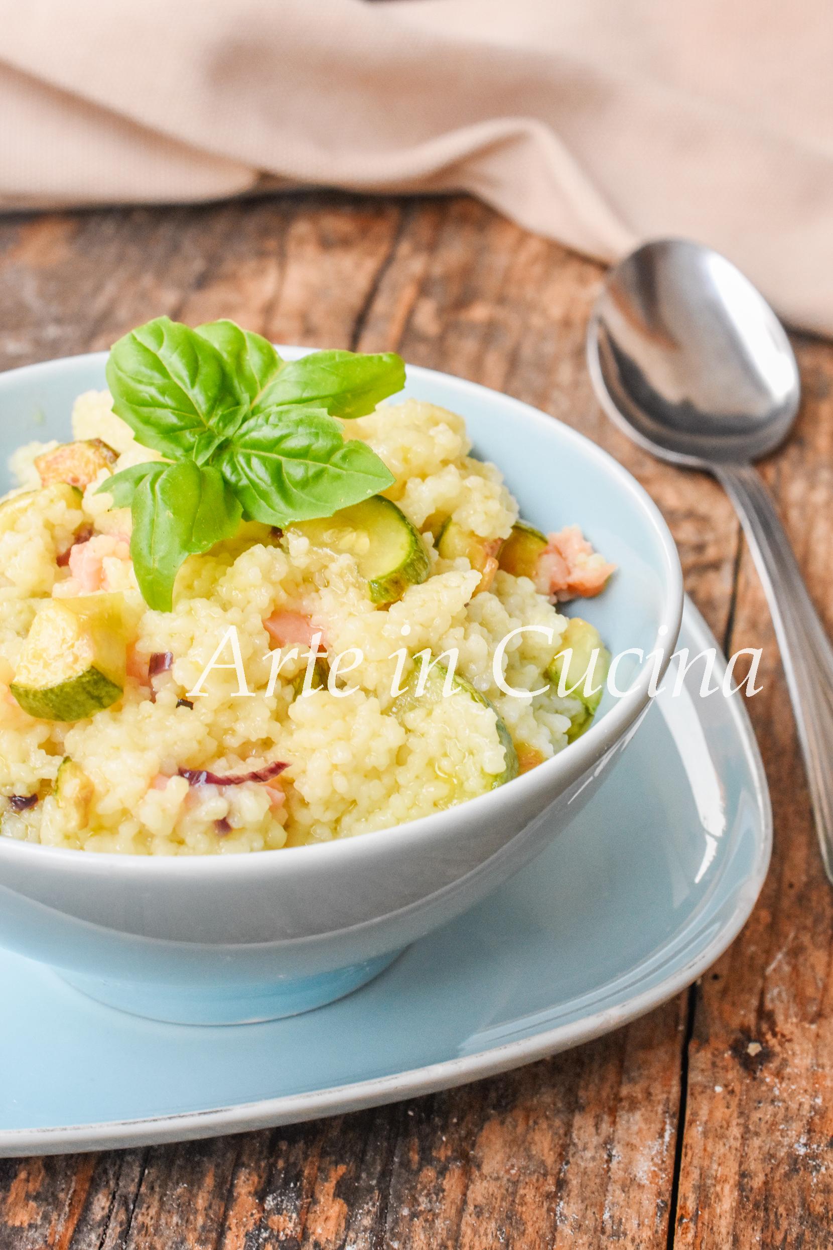 Cous cous con zucchine e salmone ricetta facile veloce leggera