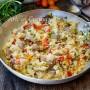 Cous cous con frutti di mare e zucchine