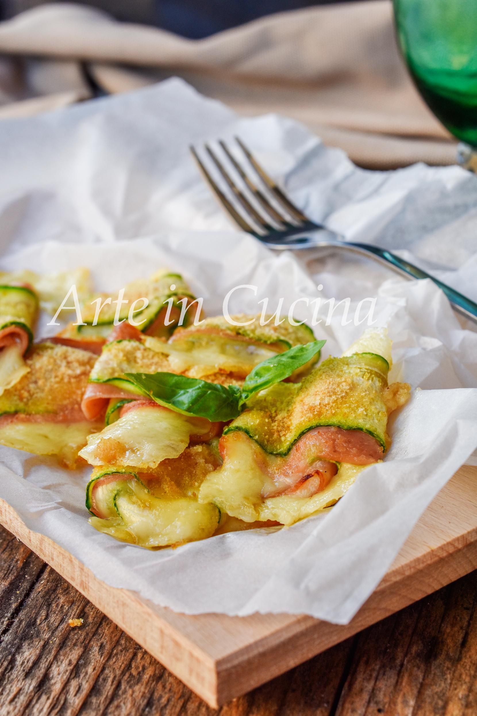 Involtini di zucchine e mortadella