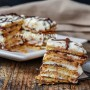 Mattonella fredda di biscotti con nutella veloce