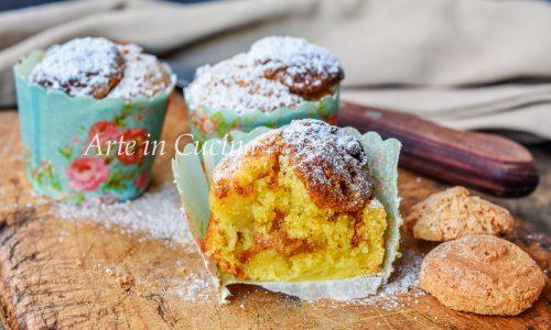 Muffin cuor di mela e amaretti