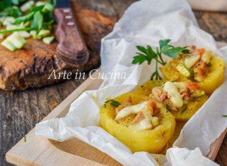 Patate ripiene di tonno e zucchine